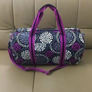 Vera Bradley Round Duffel Bag Canterberry Magenta